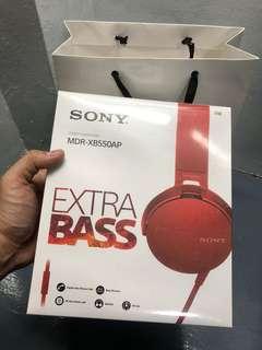 Sony MDR-XB550AP Extra Bass Headphones