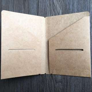 [INSTOCKS] PASSPORT SIZED Midori Styled Traveler's Notebook, Planner, Journal Cardboard Card Holder