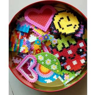 Craft fuse beads assorted colours, Perler, Hama, Pyssla, shaped templates, calipers, bead sets