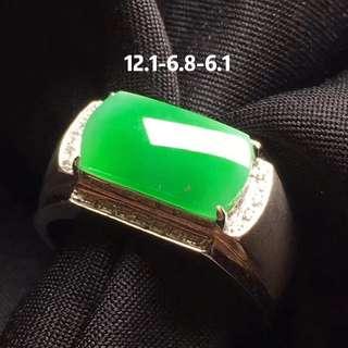GZ-36陽綠馬鞍男戒,完美,批發市場:¥14800
