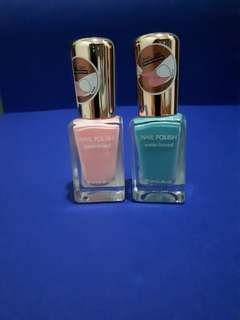 Peel off nail polish (color: soft pink and tosca)