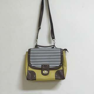 Yellow Striped Bag