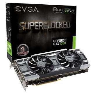 95% new EVGA GTX 1080 SC ACX3.0