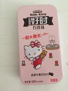 Hello Kitty metal box Hersheys chocolate
