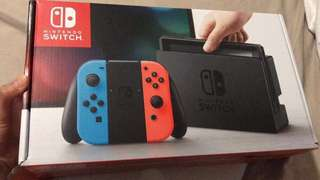 Nintendo Switch (Red/Blue)-New never been used