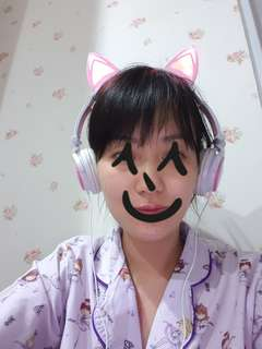 Kawaii Pink cat ear headphones