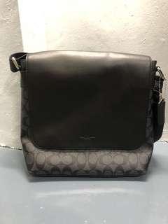 Coach Charcoal Black Messenger Bag / Satchel
