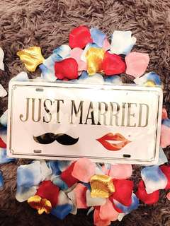 🚚 Wedding signage / photo prop : Just married