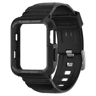 [SPIGEN] Rugged Armor Pro Apple Watch 42mm Case (Black)