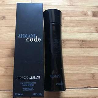 New ori SG parfum armani code 100ml