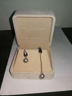 Akoya珍珠耳環