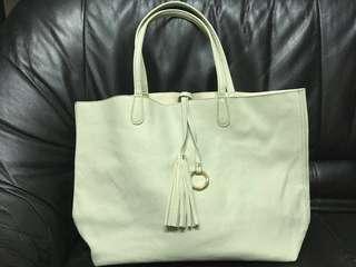 清新薄荷綠 側斜 手挽袋 A4 Shoulder Bag Tote Bag
