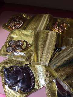 Phone rings with crystals and gems