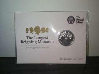 英女皇5人頭錢幣
