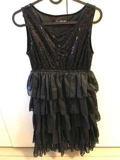 黑蛋糕裙洋裝
