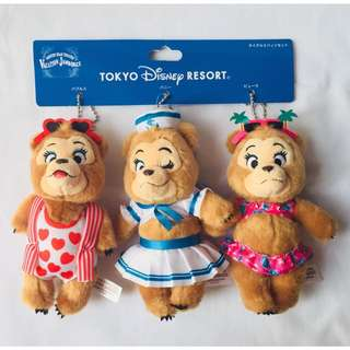 🌸SALE🌸 Country Bear Vacation Jumboree Plush Keychain-The Sun Bonnet Trio