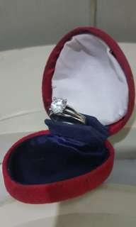 自家收藏40年女裝高等級蘇聯鑽石戒指