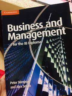 Business and Management for the IB Diploma By Peter Stimpson & Alex Smith
