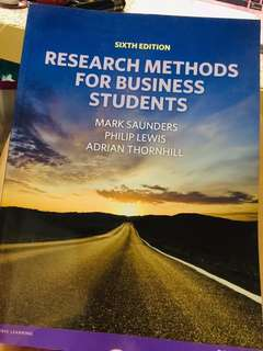 Research Methods for Business Student
