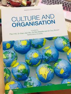 Culture and Organisation  Material for Northumbria university