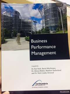 Business Performance Management  Material for Northumbria university