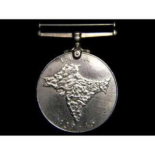 1946年英屬印度服務勳章 British India Service Medal (英皇佐治六世像及印度版圖)