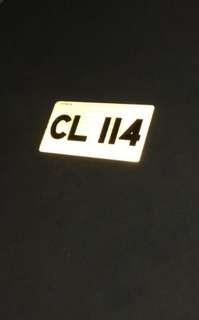 CL114 古董/生日/名子/紀念日/幸運車牌