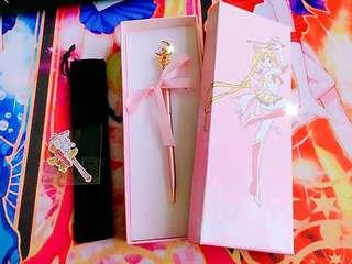 美少女戰士星月棒變身圓珠筆全金屬筆