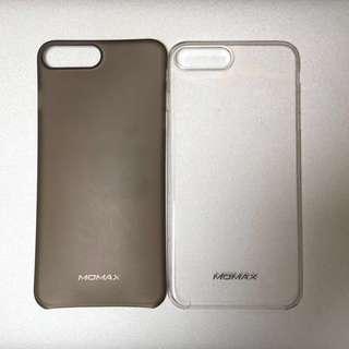 九成新 兩個 超薄 iPhone 8+ Plus 大機殼 iPhone case