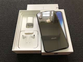 iPhone X 256gb Factory Unlocked Space Gray Smooth Complete