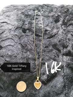 Tiffany inspired 18K yellow gold