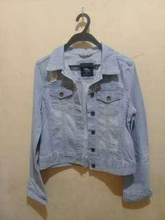 COTTON ON DISTRESSED DENIM JACKET