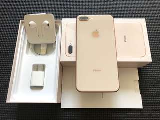 Iphone 8 Plus 64gb Factory Unlocked Gold 100% Smooth Complete