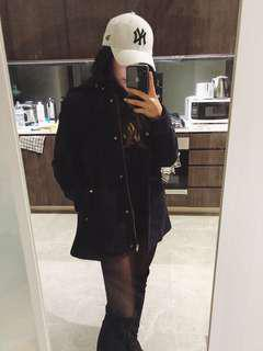 Navy Zara Wool Coat