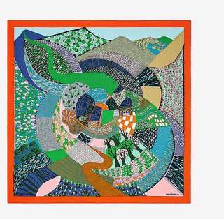 Hermes scarf 90*90 圍巾 (forest print)