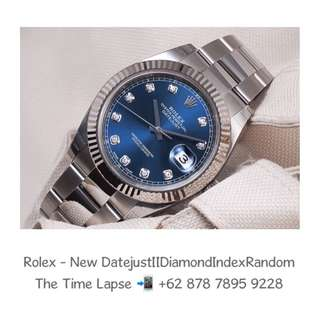 Rolex - New Datejust II, Diamond Index Blue Dial Stainless Steel Oyster 'Random' (New in Box)