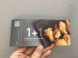 Kyochon buy 1 free 1 chickens voucher