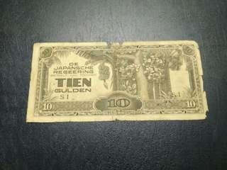 10 Gulden Pemerintahan Djepang 1942-1945