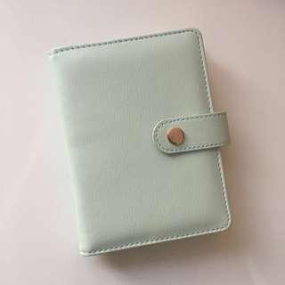mint green grid notebook / bullet journal A6