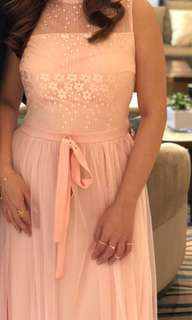 Peach bridesmaid dress