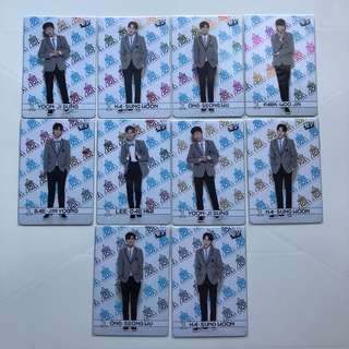 Wanna One Yes! Card 專輯卡 101 Produce 彩金藍卡 #001-011