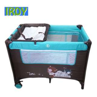 Irdy baby crib/ playpen with diaper changer
