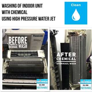 Aircon Services Chemical Overhaul Wash