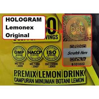 Lemonex Hologram Fat Burner 30 Sachets