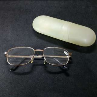 Long-sighted Spectacles with case (+2.50D). Brand new, never used