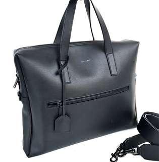 Saint laurent mens briefcase in black