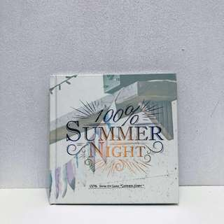 100% 4th Single Album- Summer Night