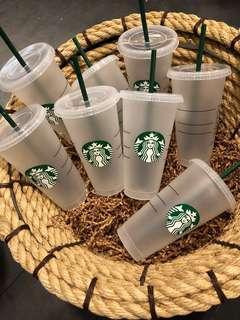 🚚 Sun☀️美國代購🇺🇸 星巴克Starbucks 冷飲環保杯 可重複使用 24oz 710cc 特大杯容量