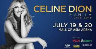 CELINE DION DISCOUNTED TICKET