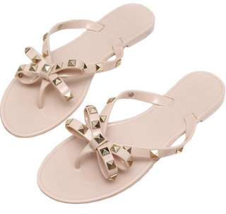 NEW Nude Stud Jelly Sandals - Size 6.5 and 7.5